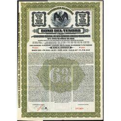 Bono Del Tesoro Del Gobierno Federal de Los Estados Unidos Mexicanos.