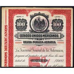 Estados Unidos Mexicanos Deuda Publica Agraria Specimen Bond.