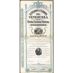 Deuda Nacional Interna Consolidada Specimen Bond.