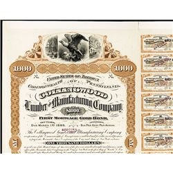 Collingwood Lumber and Manufacturing Co. Bond Proof.