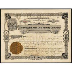 Turnagain Arm Gold Mining Co. 1907 Alaska Stock Certificate.