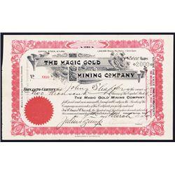 Magic Gold Mining Co., 1906 Cripple Creek Issued Stock.