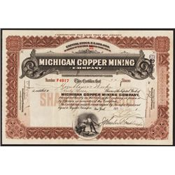 Michigan Copper Mining Co. Issued Stock.