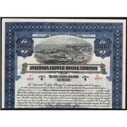 Anaconda Copper Mining Co. 1919 Specimen Bond.