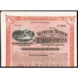 Kentucky Mineral and Timber Co. Issued Bond.