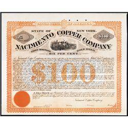 Nacimiento Copper Co. Specimen Bond.