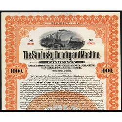 Sandusky Foundry and Machine Co. Specimen Bond.