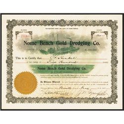 Nome Beach Gold Dredging Co. Issued Stock.