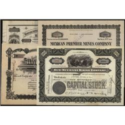 Issued Mining Stock Certificates Lot of 4.