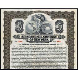 Standard Oil Company of New York, 1921 Specimen Bond.