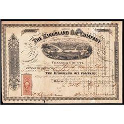 Kingsland Oil Co. Issued Stock.