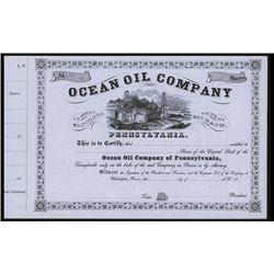Ocean Oil Co. Unissued Stock Lot of 15.