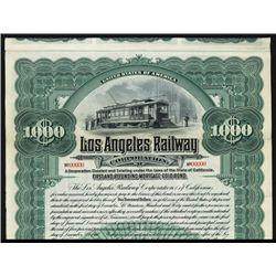 Los Angeles Railway Corp. Specimen Bond.