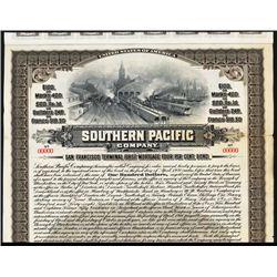 Southern Pacific Railroad Co. Specimen Bond.