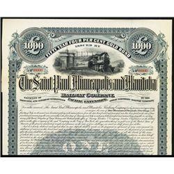 Saint Paul, Minneapolis and Manitoba Railway Co., 1890, Specimen Bond.