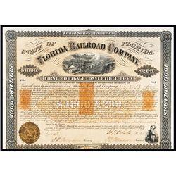 Florida Railroad Co. Issued Bond.