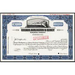 Chicago, Burlington & Quincy Railroad Co. Specimen Stock.