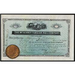 McKenney Tubular Rail Co. Issued Stock.