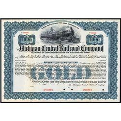 Michigan Central Railroad Co. Specimen Bond.