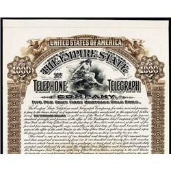 Empire State Telephone and Telegraph Co. Specimen Bond.