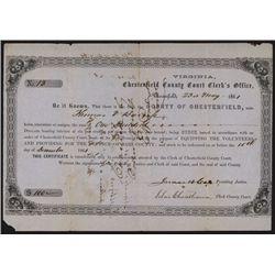 Civil War Militia Issued Bond.
