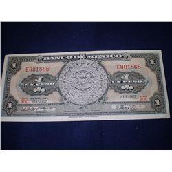 1967 Mexican peso bill