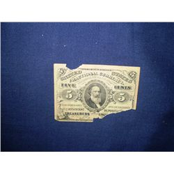 1863 5 cent bill