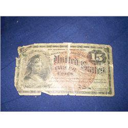1863 15 cent bill