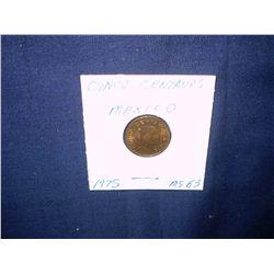 1975 cinco centavos coin
