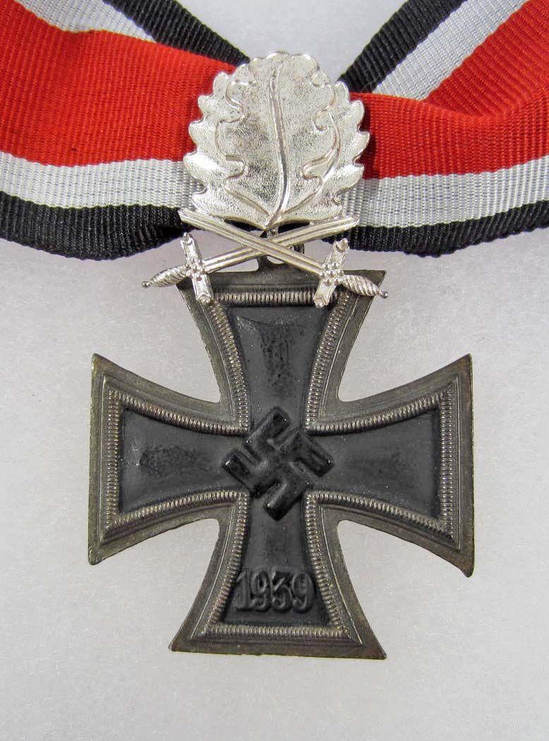 98c9bfb4b8083 GERMAN NAZI KNIGHTS CROSS W/ OAK LEAVES AND SWORDS