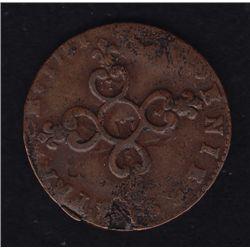 1711 France 6 Deniers