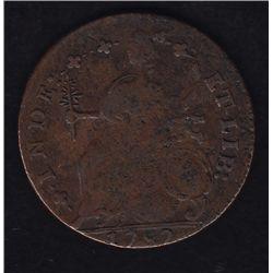 1787 Connecticut Colonial Copper