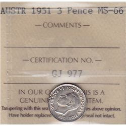 1951 Australian 3 Pence