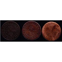 1863/1900/1901 Hong Kong One Cent Lot