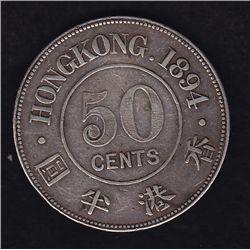 1894 Hong Kong Half Dollar
