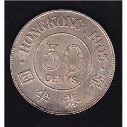 1905 Hong Kong Half Dollar