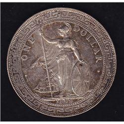 1899 Hong Kong / Great Britain Trade Silver Dollar