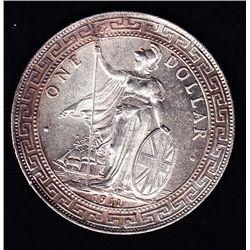 1911 Hong Kong / Great Britain Trade Silver Dollar