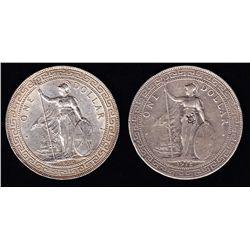 1912 & 1930 Hong Kong / Great Britain Trade Silver Dollars