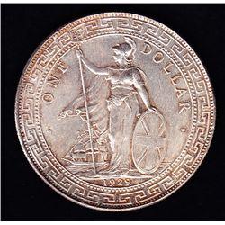 1929 Hong Kong / Great Britain Trade Silver Dollar