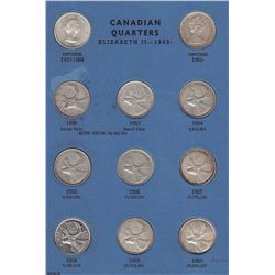 Canadian Twenty Five Cent Collection 1953 to 1983