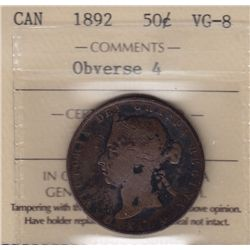 1892 Fifty Cent