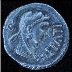 Epaticcus (to 50 AD) - AR-Unit Obv: Head of Hercules r., EPATI Rev: Eagle stg. on snake 1.1 gm. Ex:S