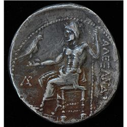 Macedonia (330-320 BC) - AR-Tetradrachm  Byblos Obv: head of Herakles  Rev: Zeus, 15.4 grams, Price