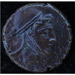 Mihradates VI (100BC) - AE-25 Amisus, Pontos  Obv: Head of Perseus r. Phrygian helmet. Rev: Pegasos