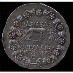 Mithradates VI (76-75 BC) - AR-Tetradrachm  Amisus, Pontus  Obv: diad. Head of Mithradates r., Rev: