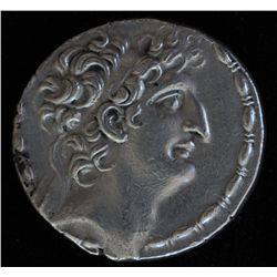 Antiochos VIII (98-96 BC) - AR-tetradrachm Antioch Obv: his diad. Head r., fillet border. Rev: Zeus