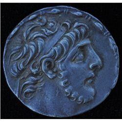 Antiochos IX  (114-95 BC) - AR-Tetradrachm Seleucis mint, Syria Obv: His diad. Head r.; fillet borde