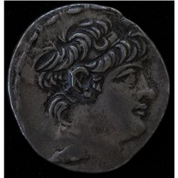 Antiochos X  (94-83 BC) - AR-Tetradrachm  Seleucia, Syria Obv: His  diad. head r., fillet border Rev