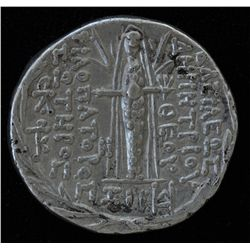 Demetrios III (95-88 BC) - AR-Tetradrachm Damascus mint Obv: His diad. head r., bearded with fillet